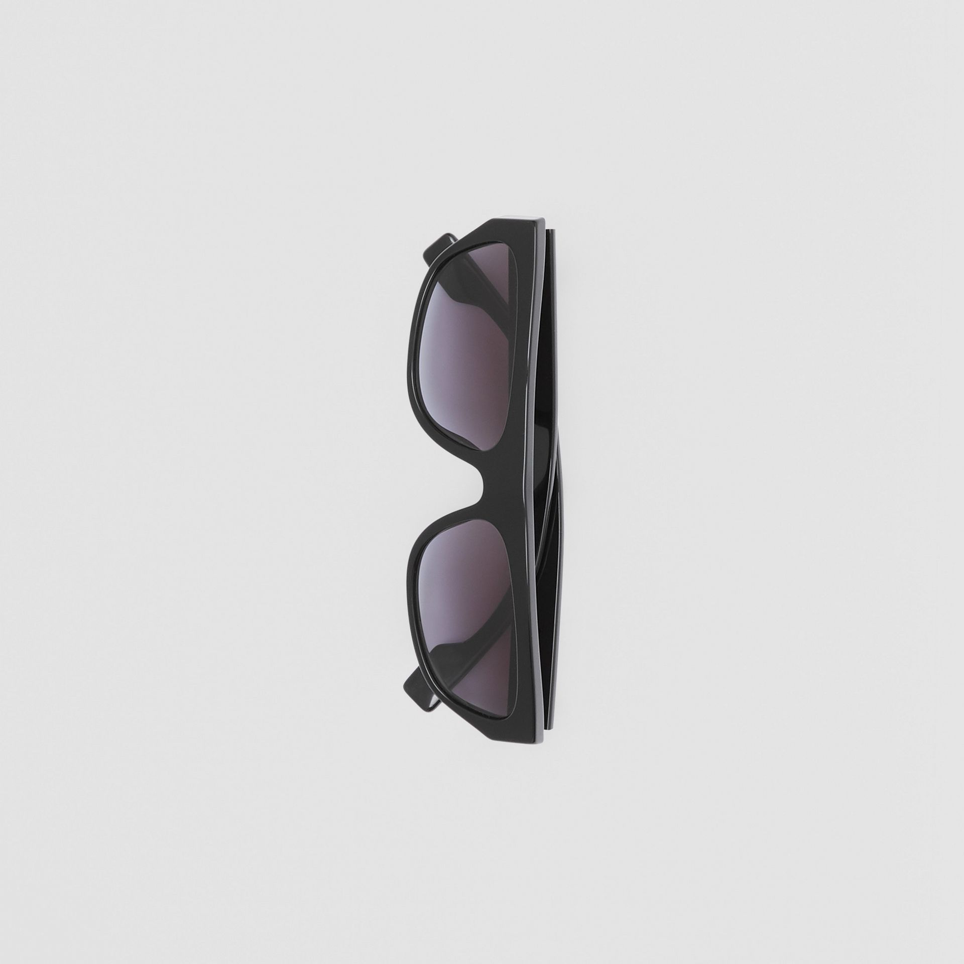 Monogram Motif Rectangular Frame Sunglasses in Black - Women | Burberry Canada - gallery image 3