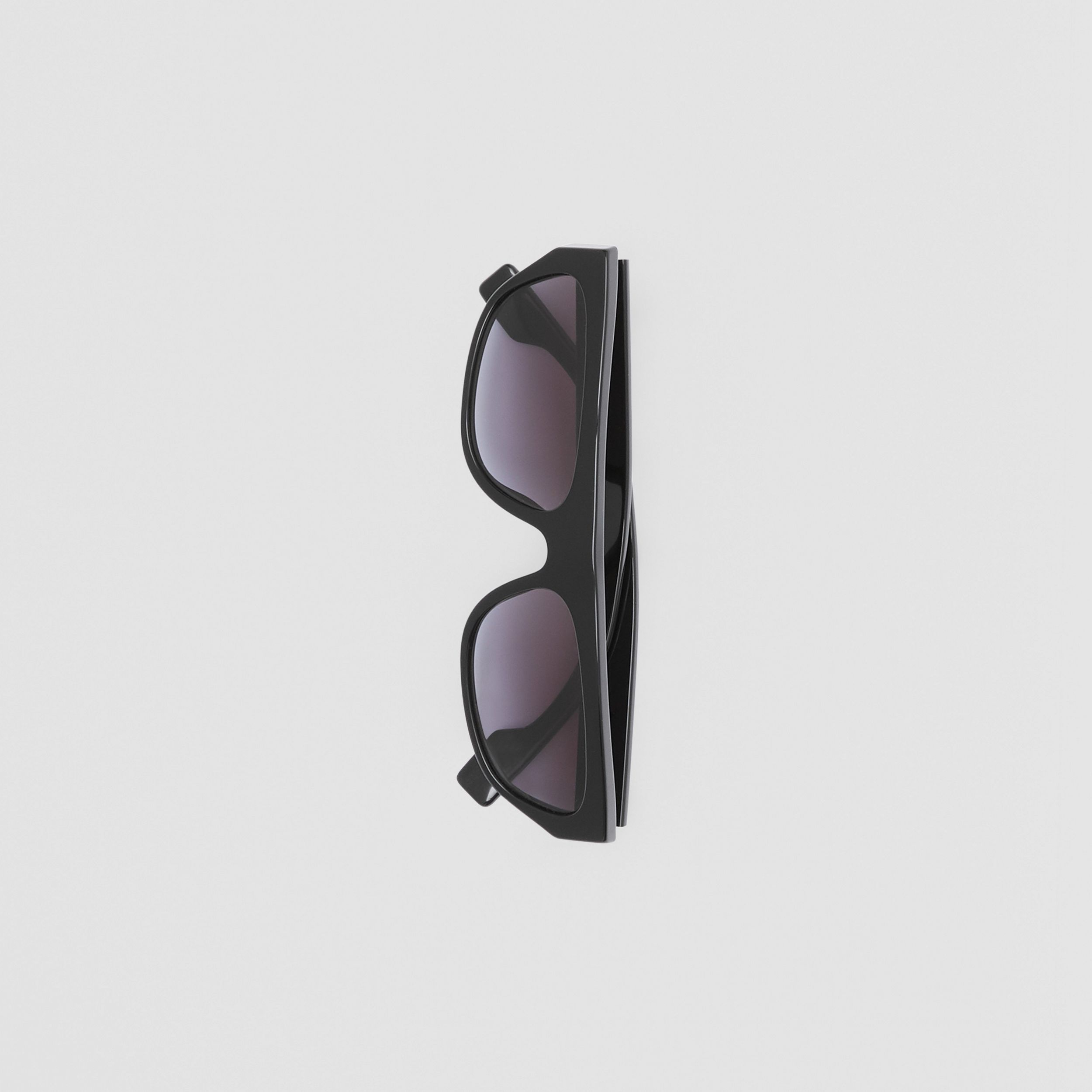 Monogram Motif Rectangular Frame Sunglasses in Black - Women | Burberry - 4