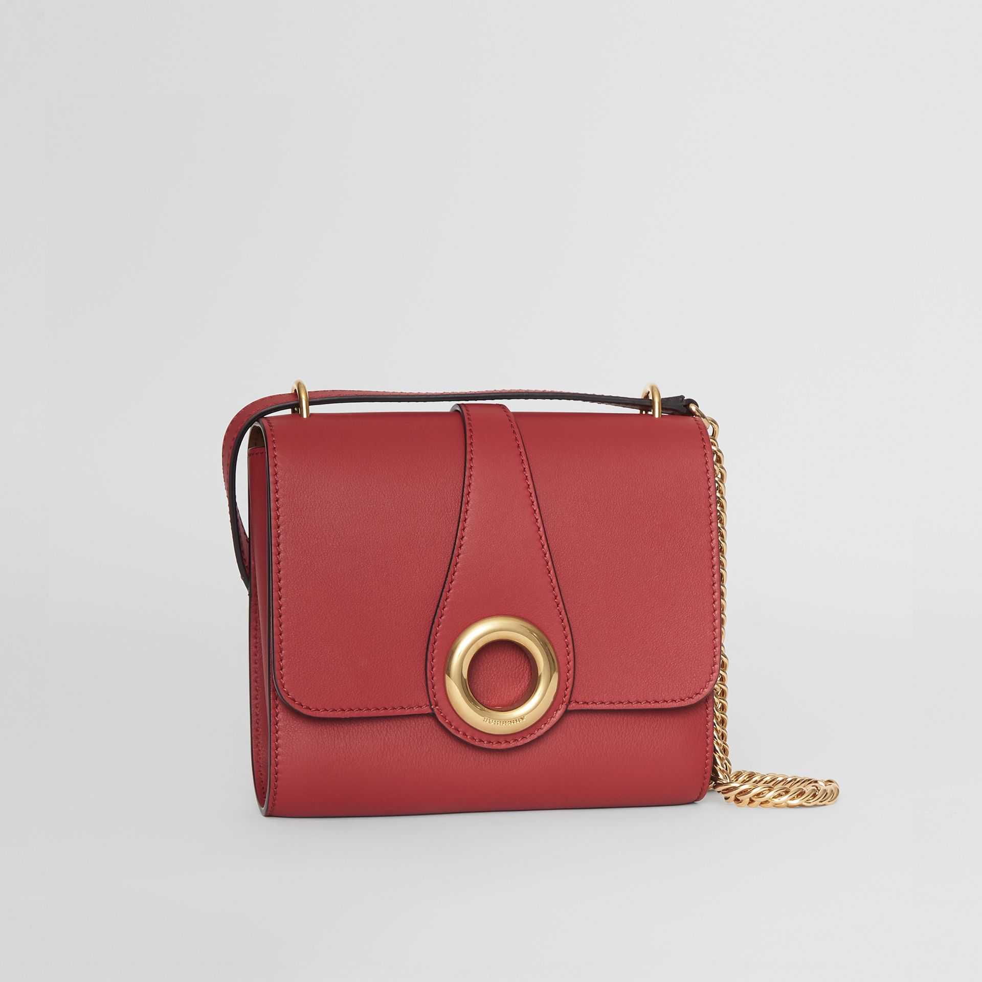 The Leather Grommet Detail Crossbody Bag in Crimson - Women | Burberry United Kingdom - gallery image 6