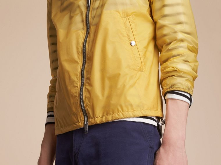 Hooded Super-lightweight Jacket in Pale Yellow - Men | Burberry Australia - cell image 4