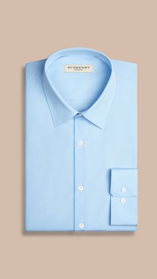 Modern Fit Cotton Poplin Shirt