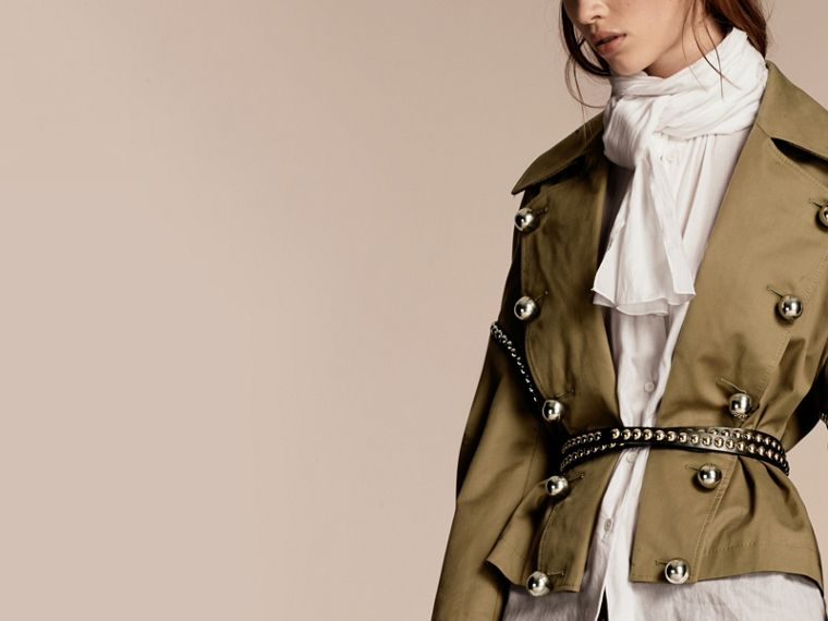 Sage Stretch Cotton Military Jacket - cell image 4