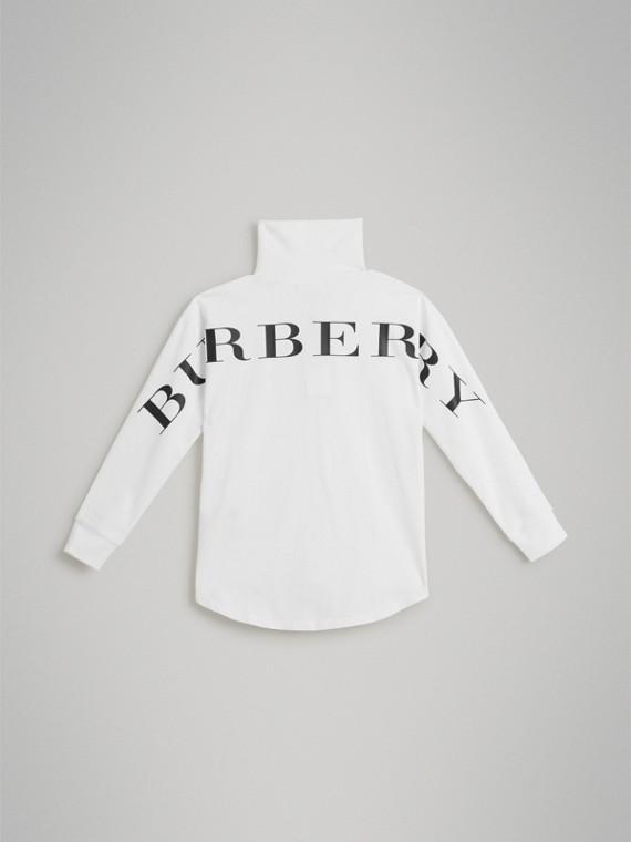 Dolcevita in cotone stretch con logo (Bianco) - Bambino | Burberry - cell image 3