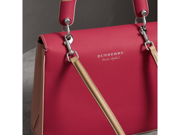 The Medium DK88 Top Handle Bag with Geometric Print in Ash Rose/russet - Women | Burberry - cell image 4