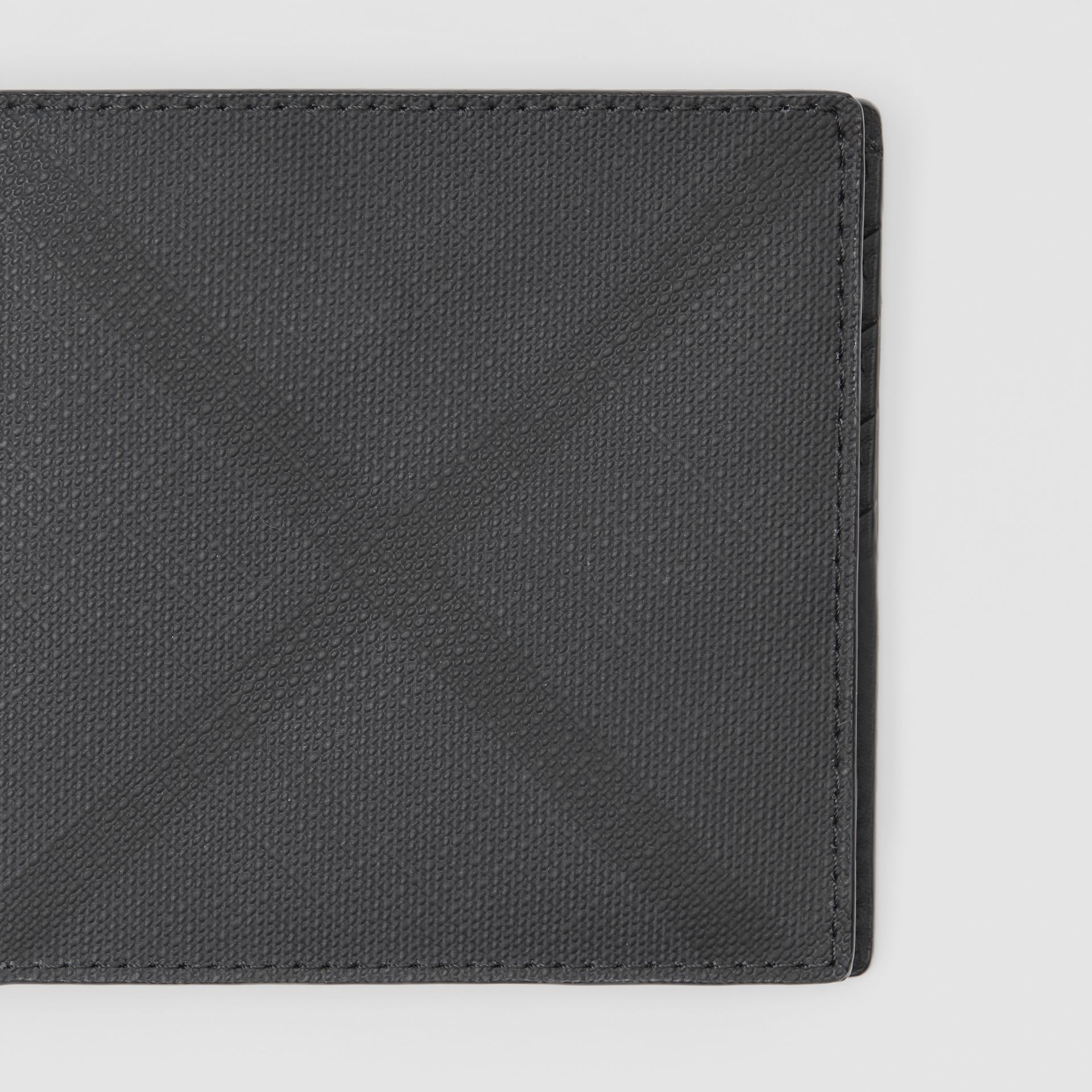 London Check Bifold Wallet with ID Card Case in Dark Charcoal - Men | Burberry - gallery image 1