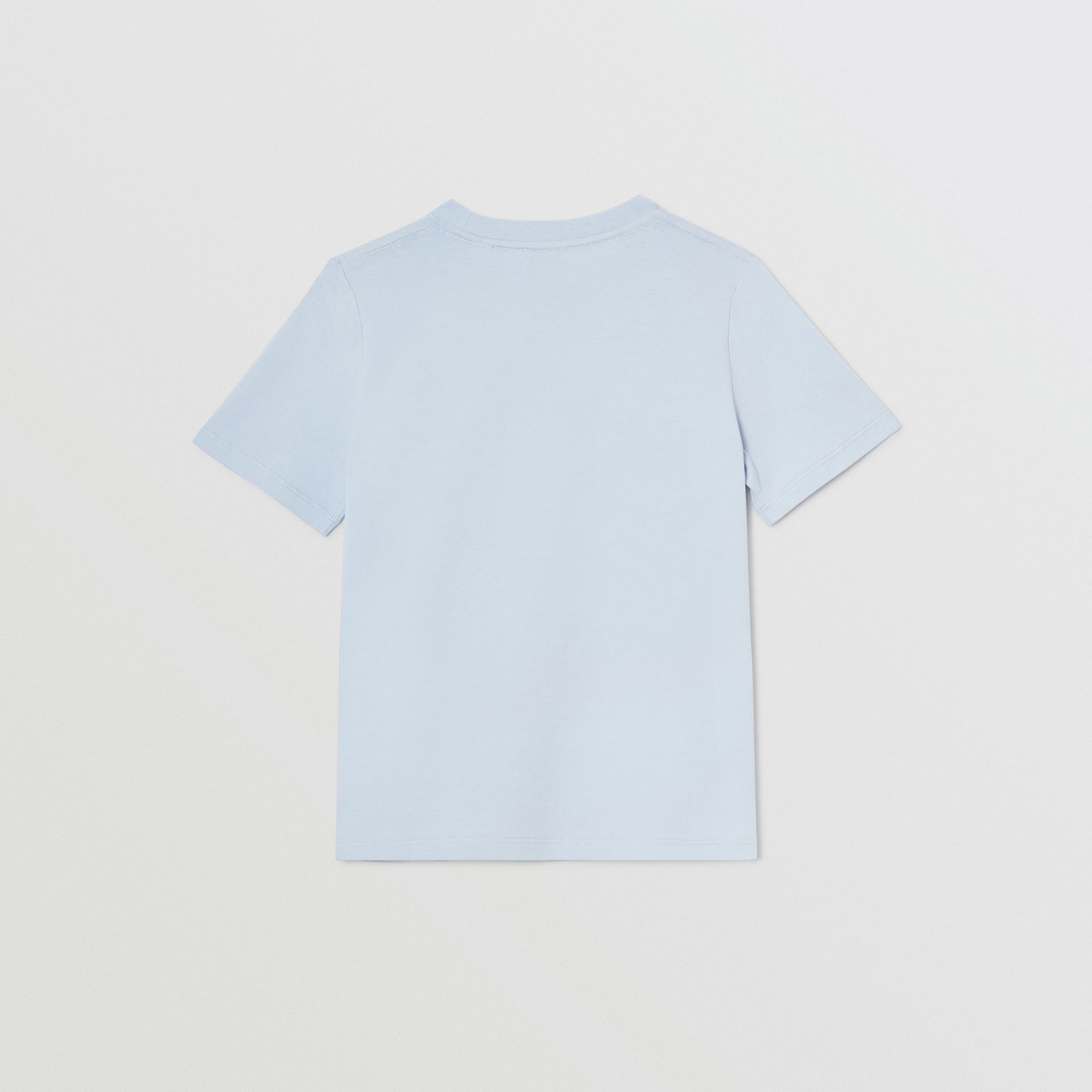Logo Print Cotton T-shirt in Light Blue | Burberry Australia - gallery image 3