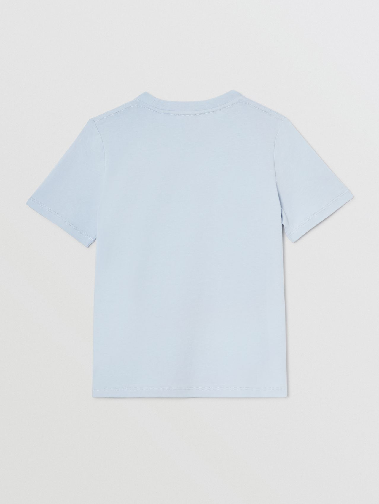 Logo Print Cotton T-shirt (Light Blue)