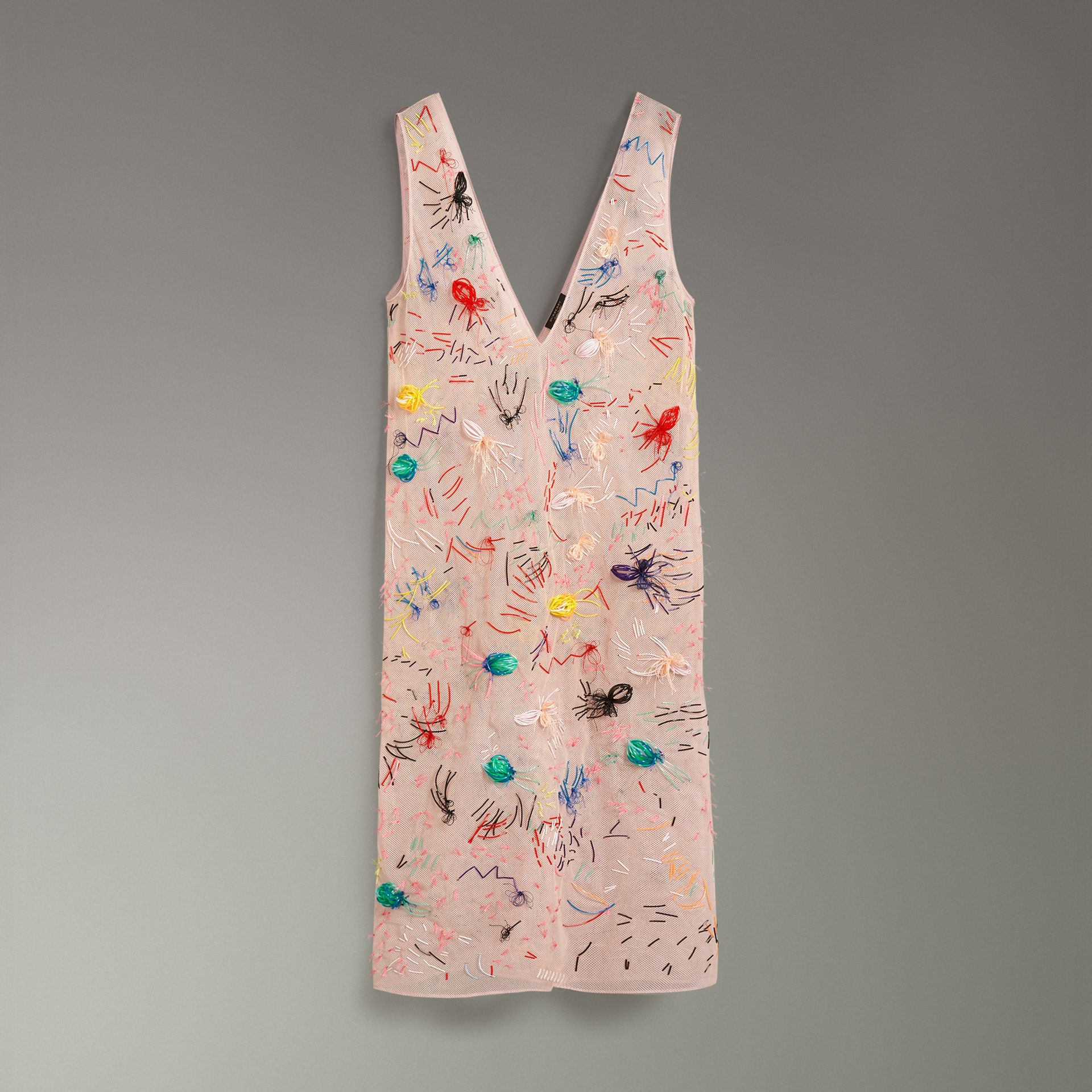 Embellished Sleeveless Dress in Pink - Women | Burberry - gallery image 3