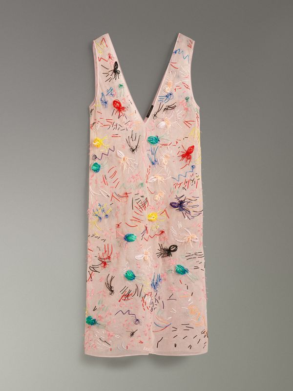 Embellished Sleeveless Dress in Pink - Women | Burberry - cell image 3