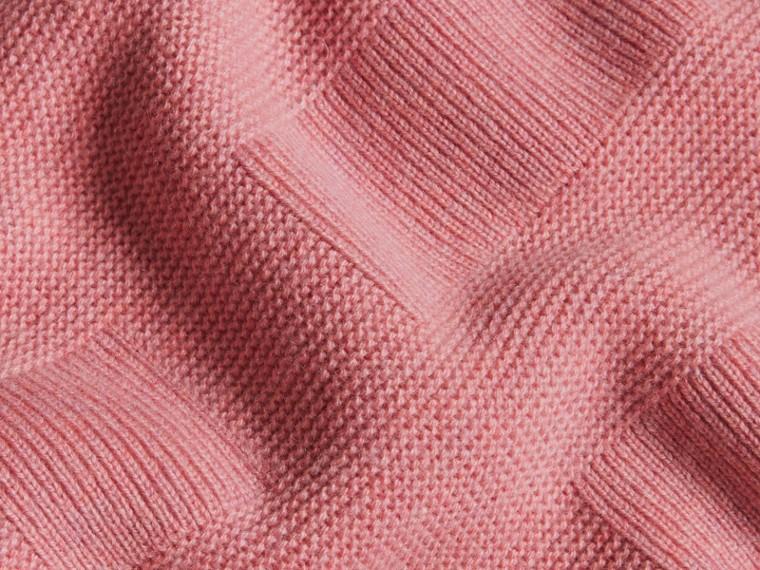 Hydrangea pink melange Check-knit Wool Cashmere Sweater Hydrangea Pink Melange - cell image 1
