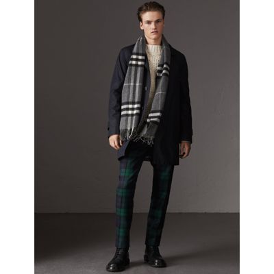 The Classic Check Cashmere Scarf - Grey Burberry IGUbsvj