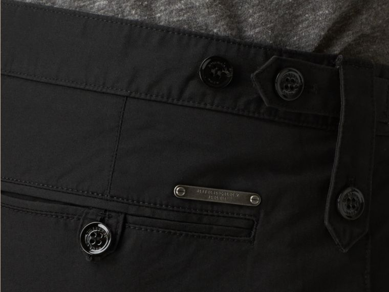 Black Straight Fit Cotton Chinos Black - cell image 1