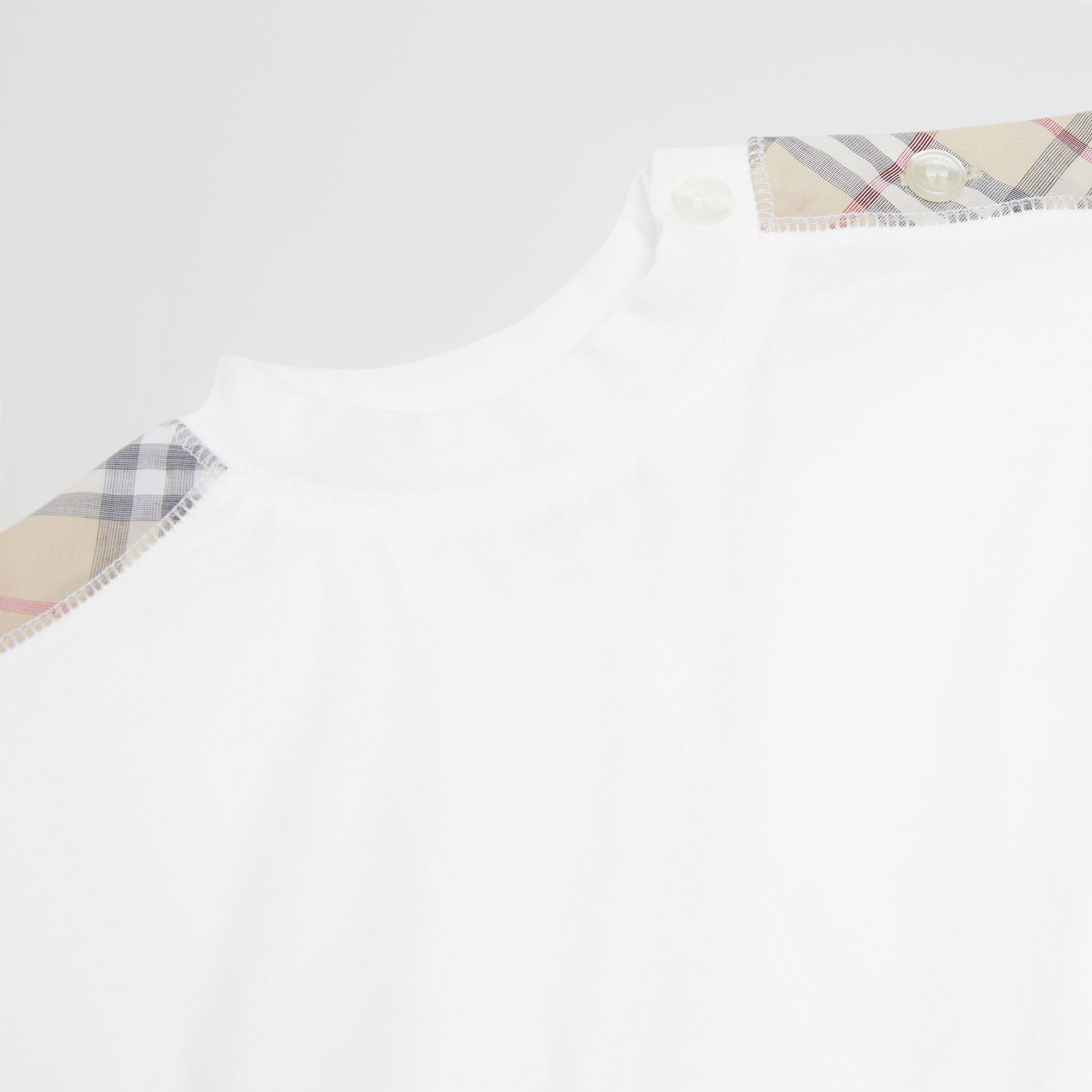 Check Cotton Three-piece Baby Gift Set in White - Children | Burberry Singapore - gallery image 1