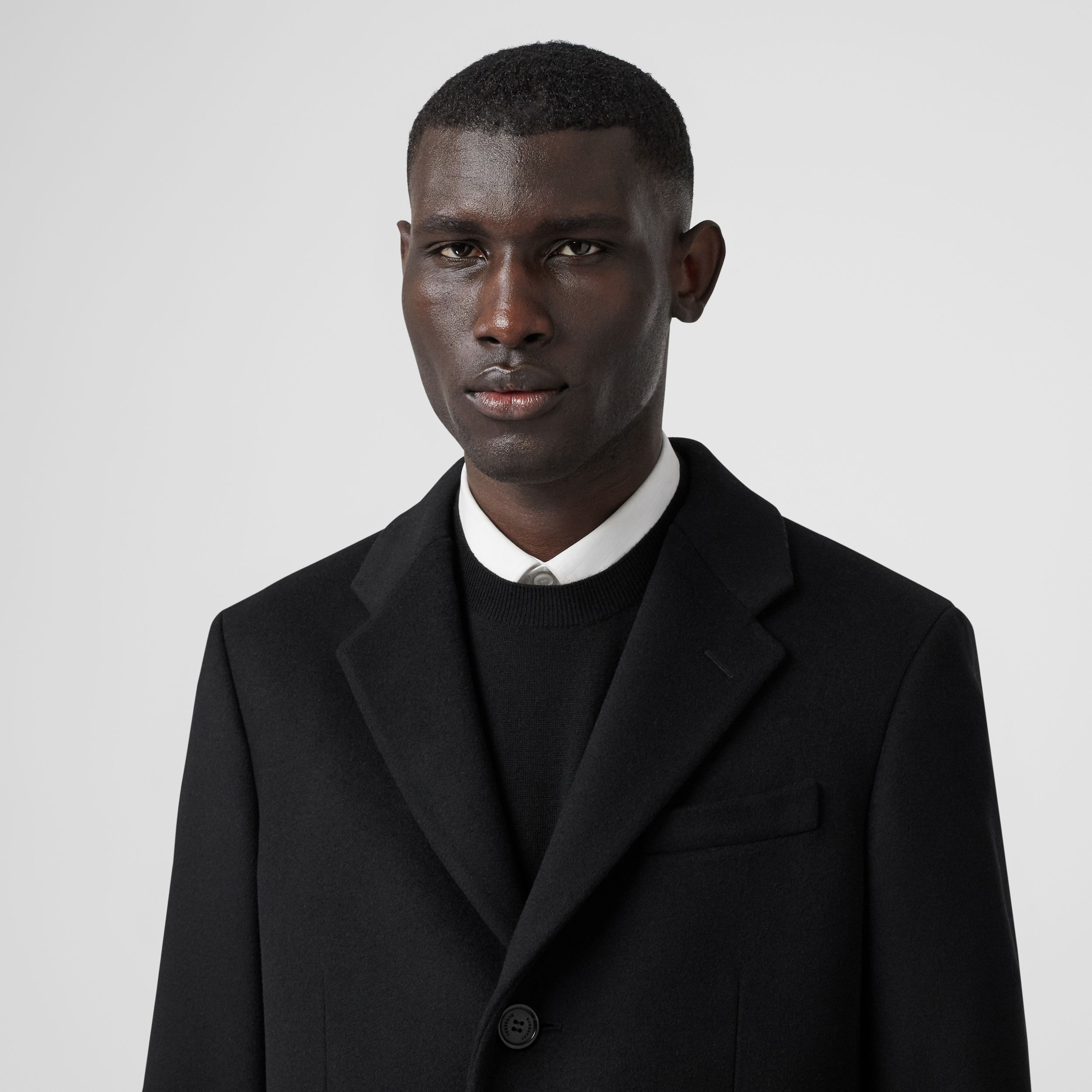 Wool Cashmere Tailored Coat in Black - Men | Burberry - 2