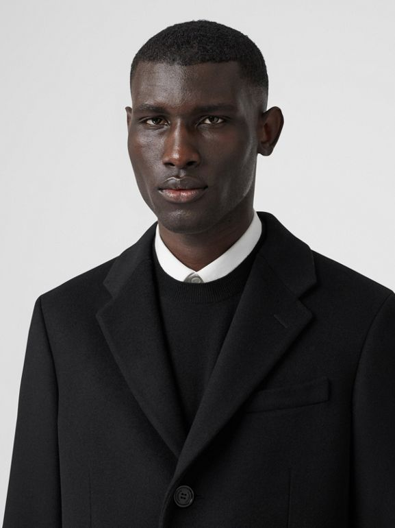 Wool Cashmere Tailored Coat in Black - Men | Burberry - cell image 1
