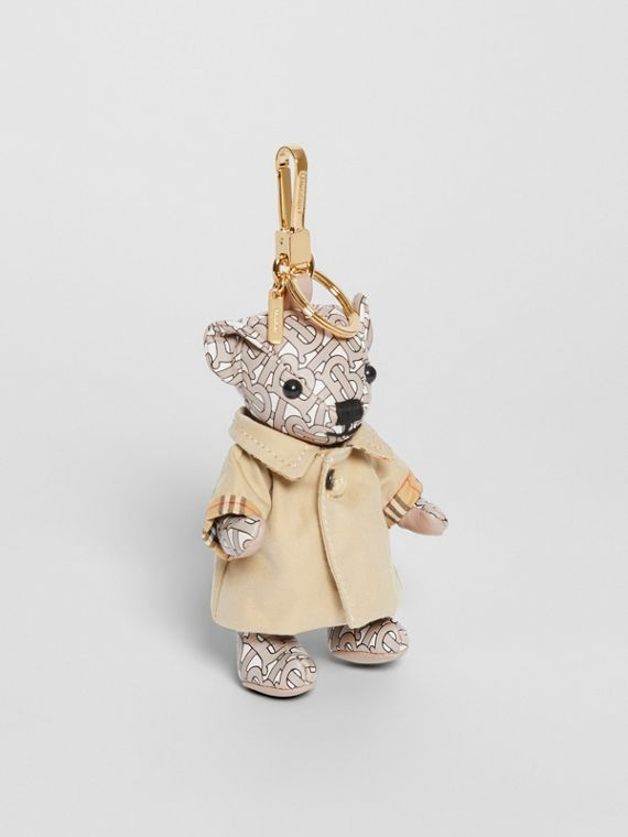 Thomas Bear Charm in Trench Coat in Beige