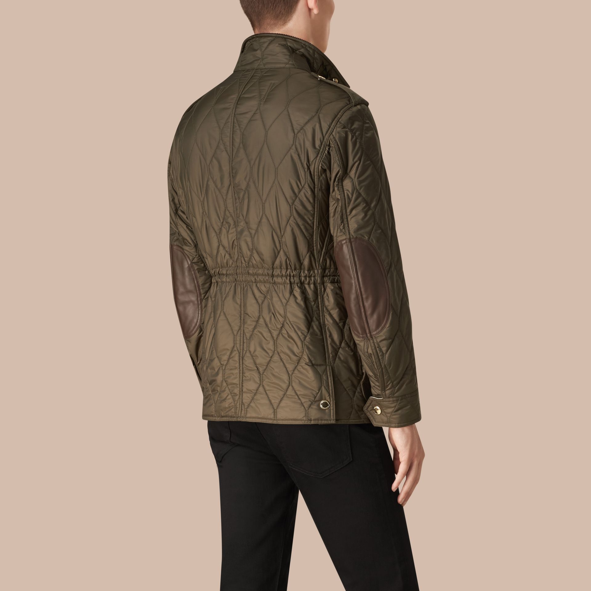 Oregano Diamond Quilted Field Jacket Oregano - gallery image 3