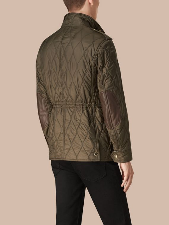 Oregano Diamond Quilted Field Jacket Oregano - cell image 2