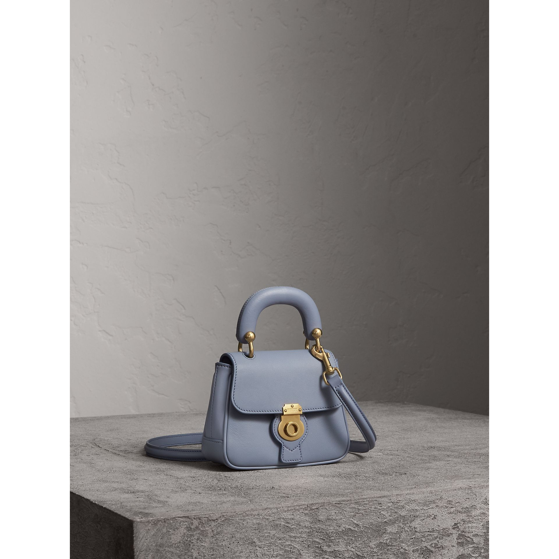 The Mini DK88 Top Handle Bag in Slate Blue - Women | Burberry - gallery image 7