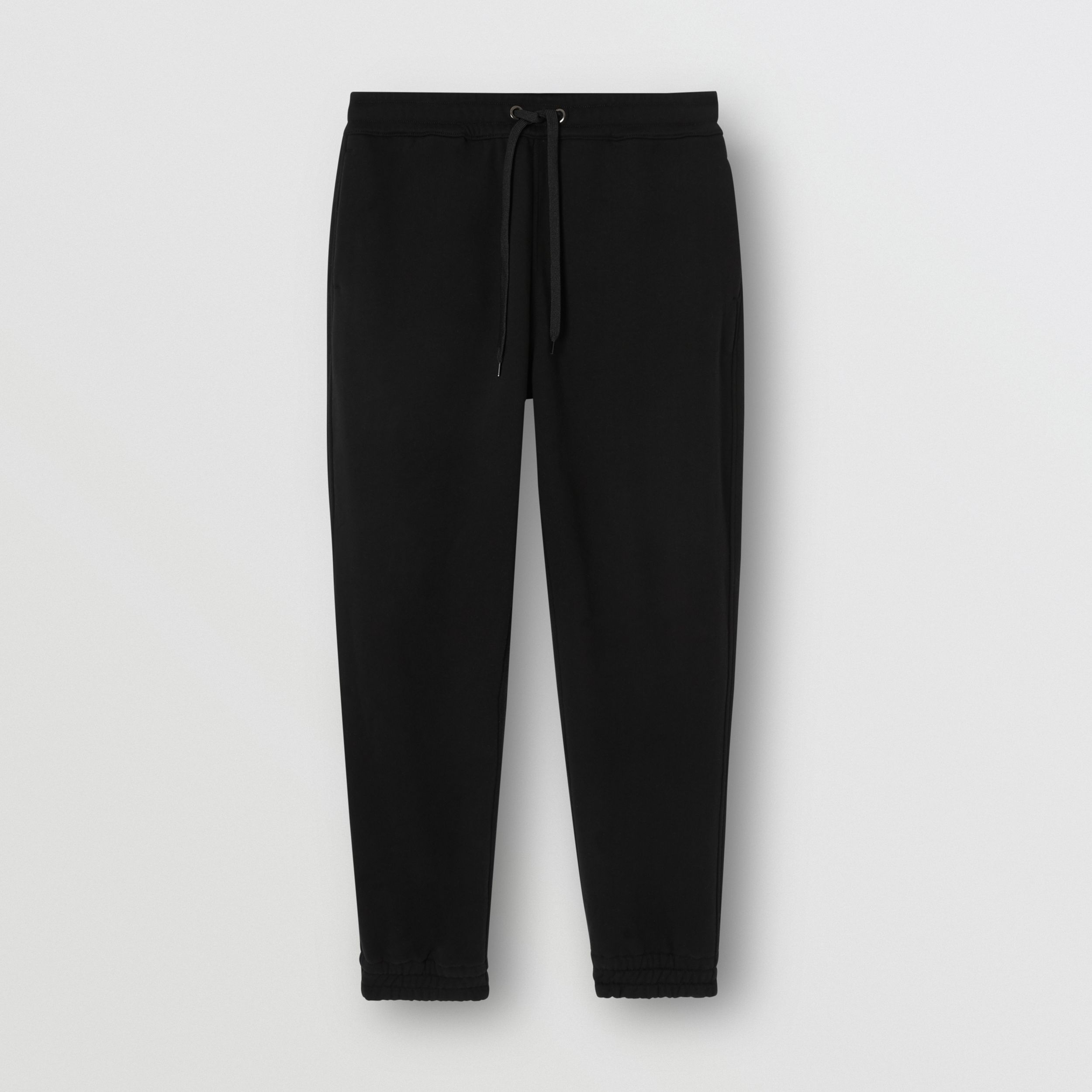 Logo Appliqué Cotton Trackpants in Black - Men | Burberry - 4