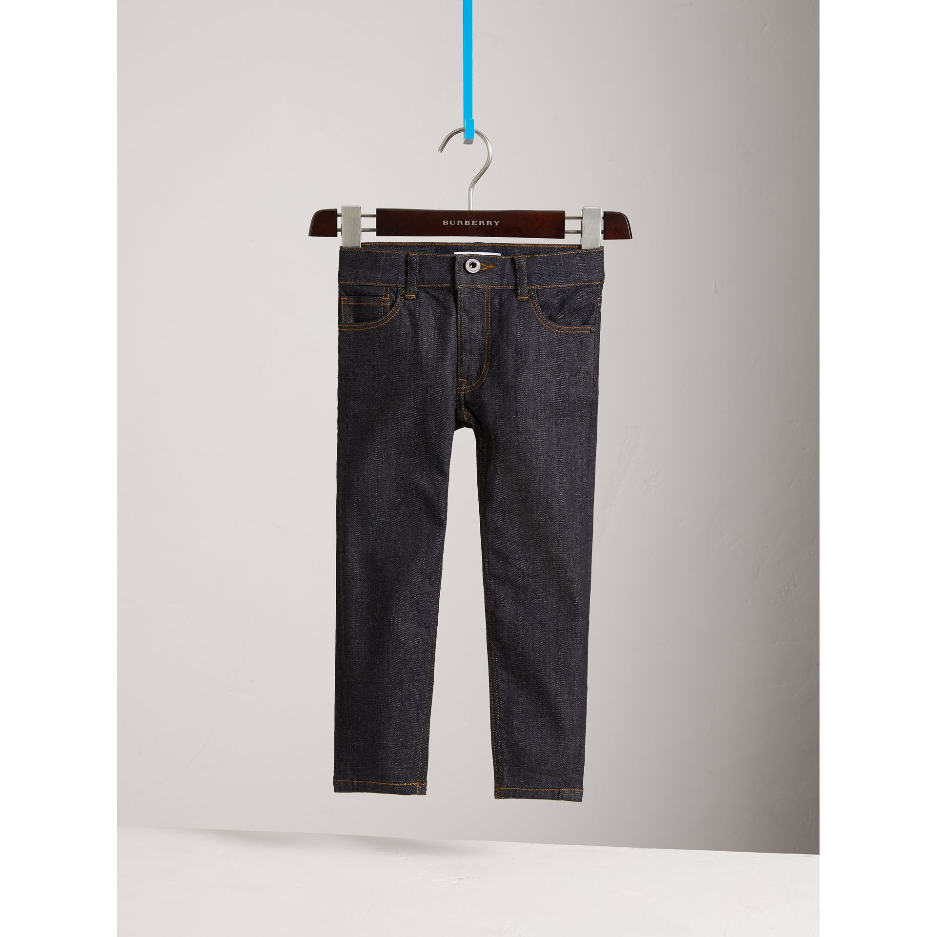 Skinny Fit Stretch Jeans in Dark Indigo - Boy | Burberry United Kingdom - gallery image 0
