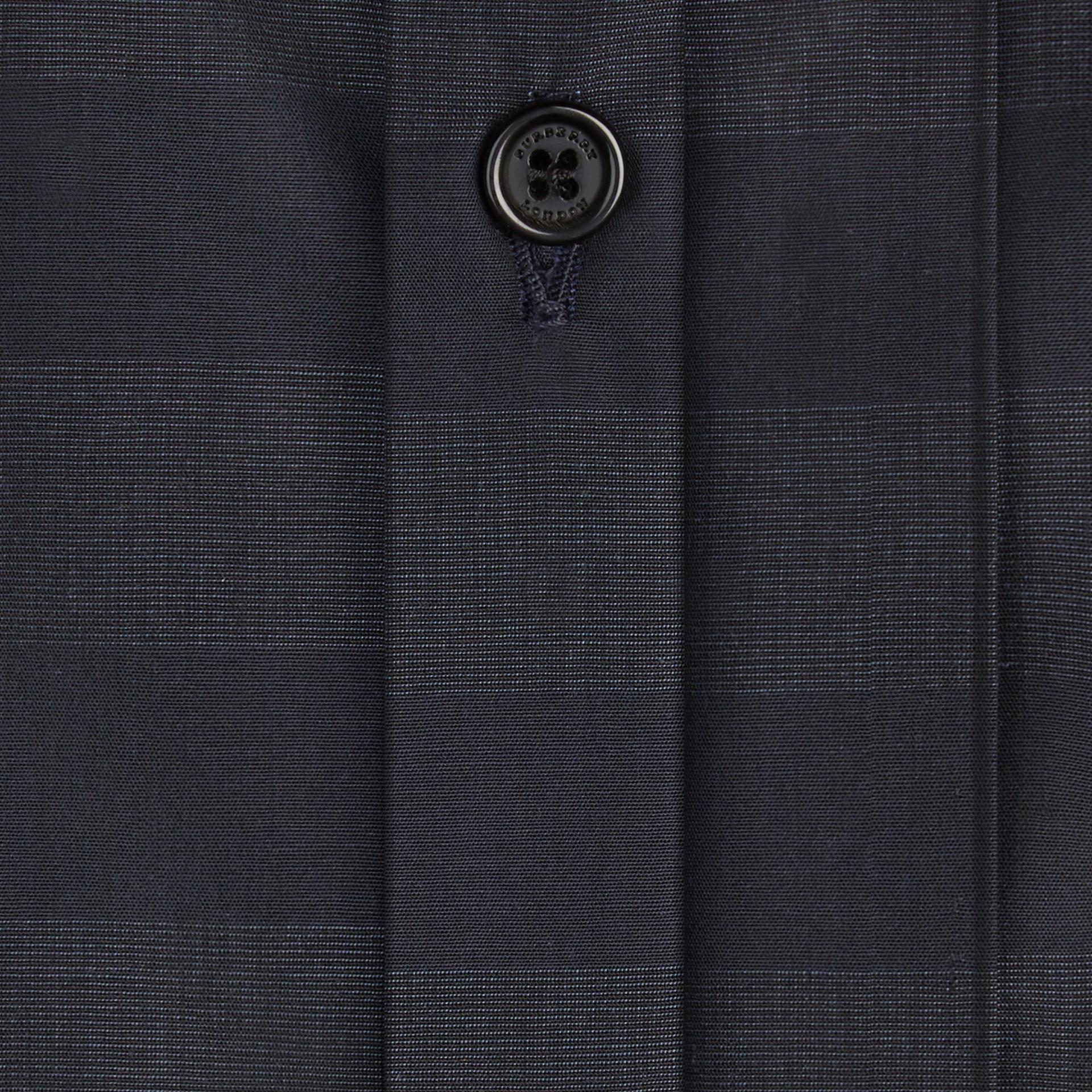 네이비 체크 코튼 셔츠 네이비 - 갤러리 이미지 2
