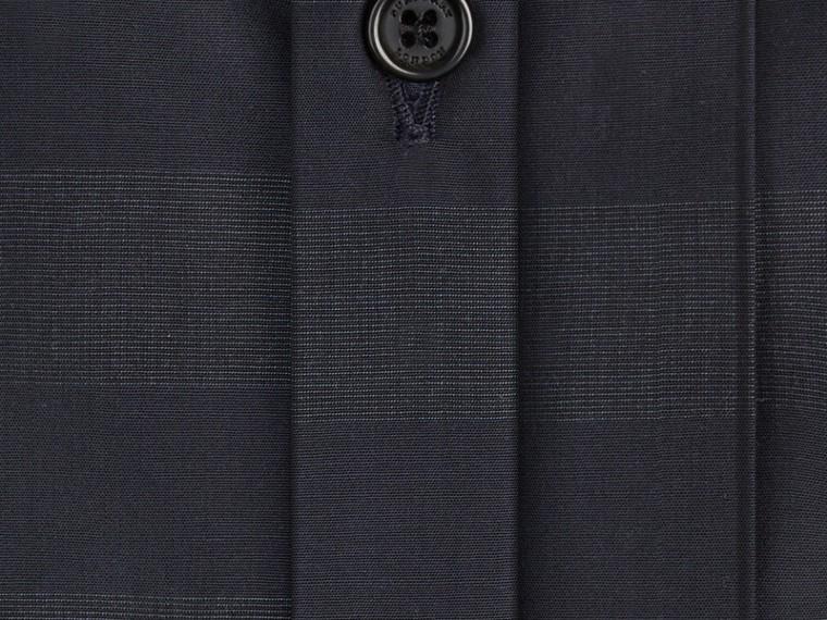 네이비 체크 코튼 셔츠 네이비 - cell image 1