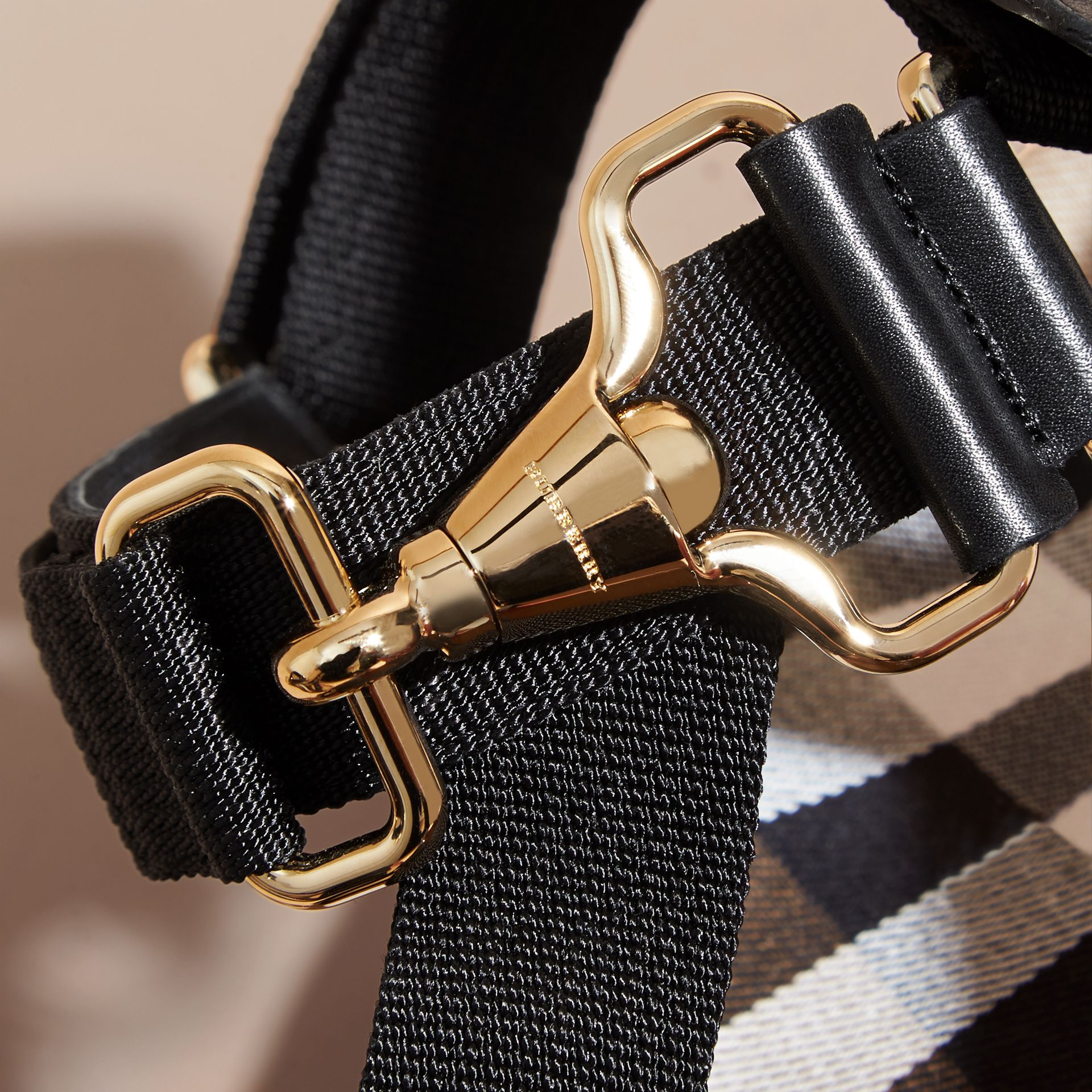 House Check Strappy Sandals with Hardware Detail - Women | Burberry - gallery image 2