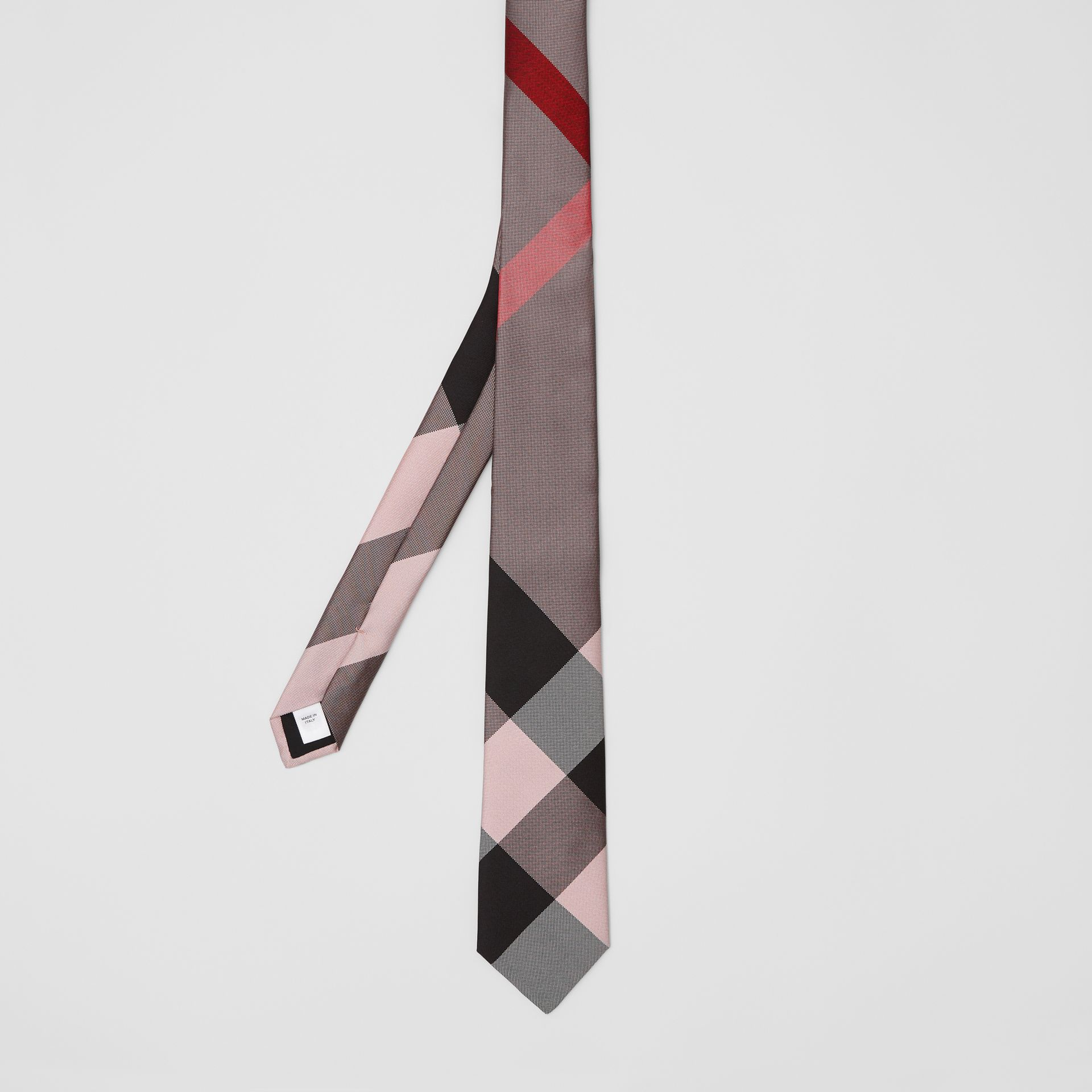 Modern Cut Oversized Check Silk Tie in Alabaster Pink - Men | Burberry - gallery image 4
