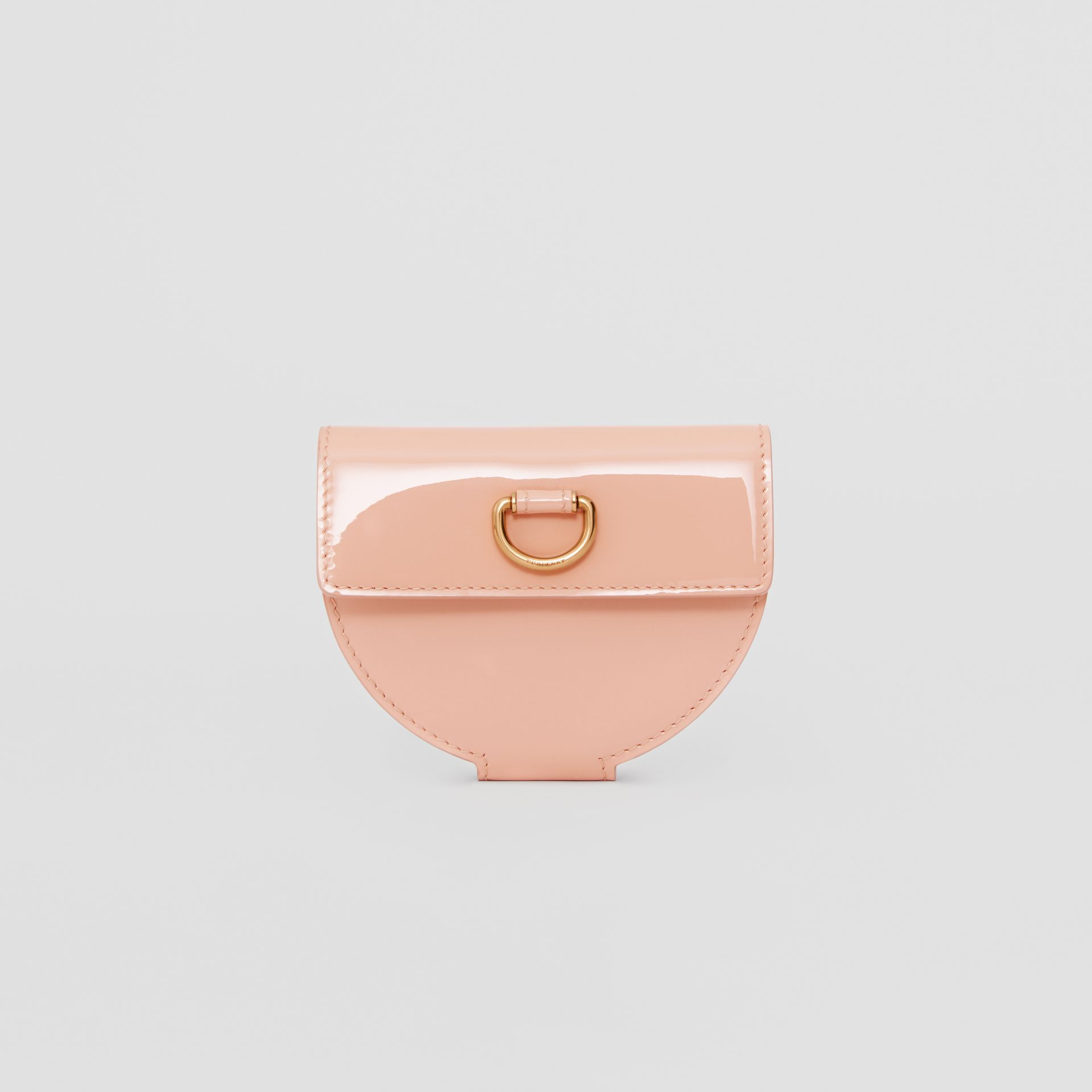 D-ring Detail Patent Leather Coin Case in Pale Fawn Pink - Women | Burberry - gallery image 5
