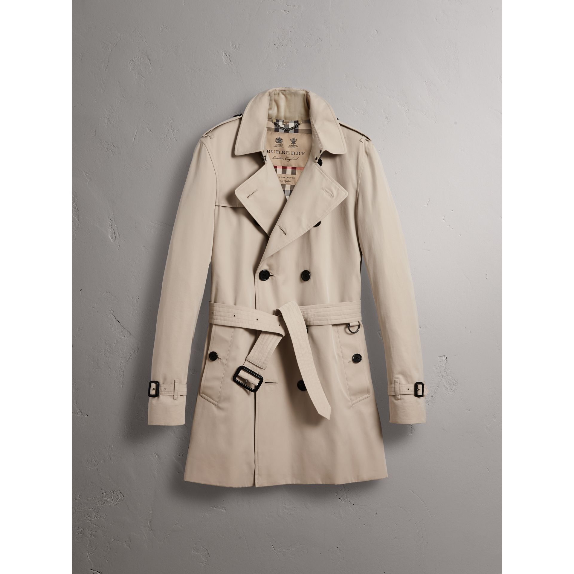 The Kensington – Trench mi-long (Stone) - Homme | Burberry - photo de la galerie 3