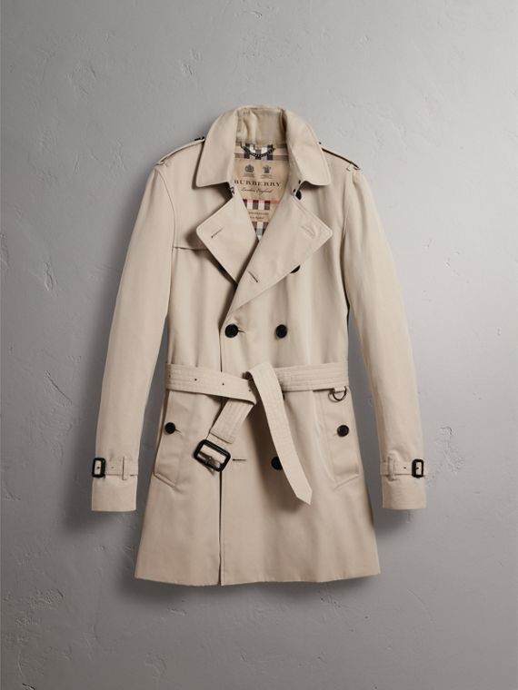 The Kensington – Mid-Length Heritage Trench Coat in Stone - Men | Burberry Canada - cell image 3