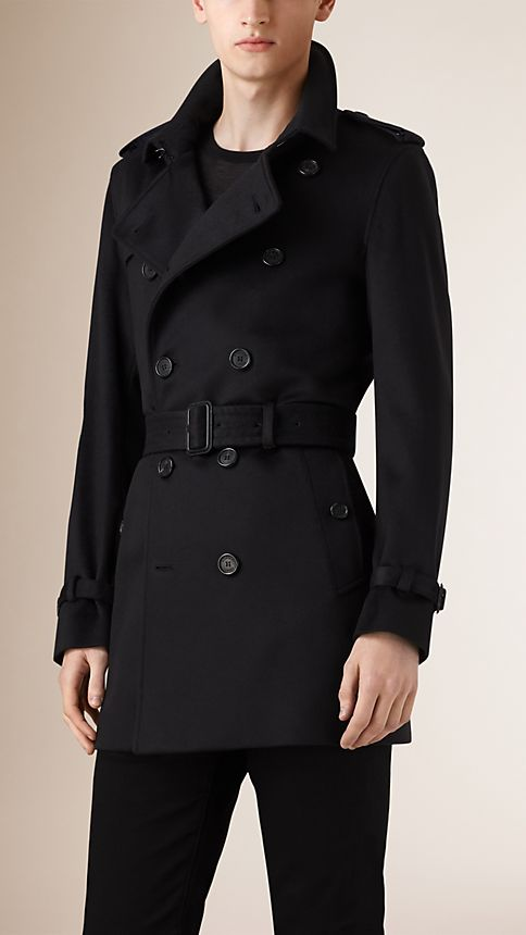 Navy Kensington Fit Cashmere Trench Coat - Image 1