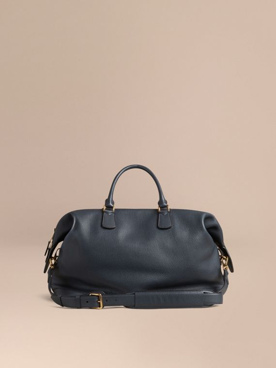 Dark pewter blue Grainy Leather Holdall Dark Pewter Blue - cell image 3