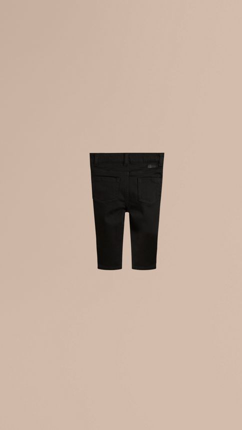 Black Stretch Denim Jeans - Image 3