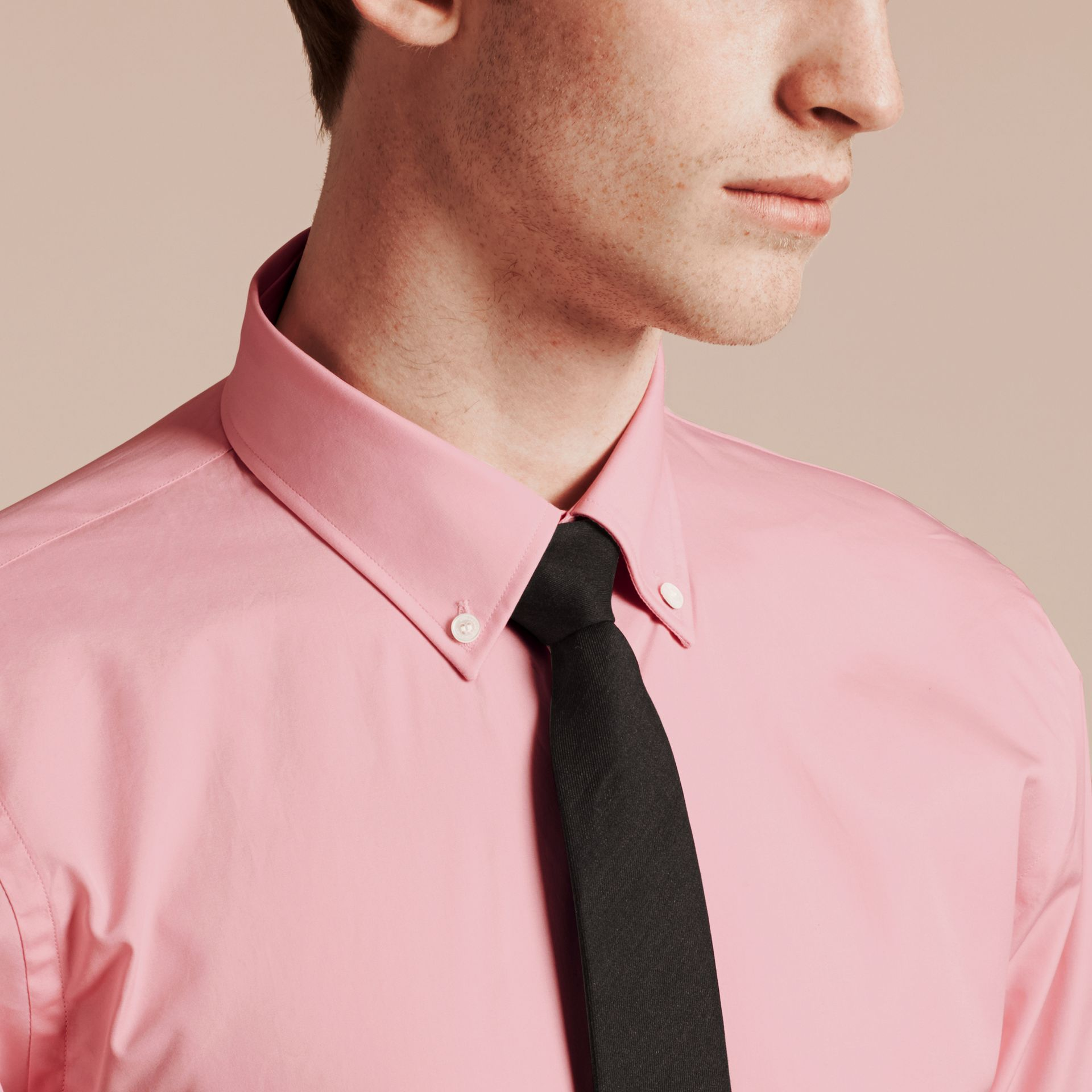 City pink Slim Fit Button-down Collar Cotton Poplin Shirt City Pink - gallery image 5
