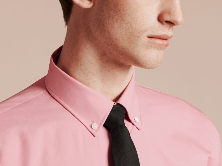 City pink Slim Fit Button-down Collar Cotton Poplin Shirt City Pink - cell image 4