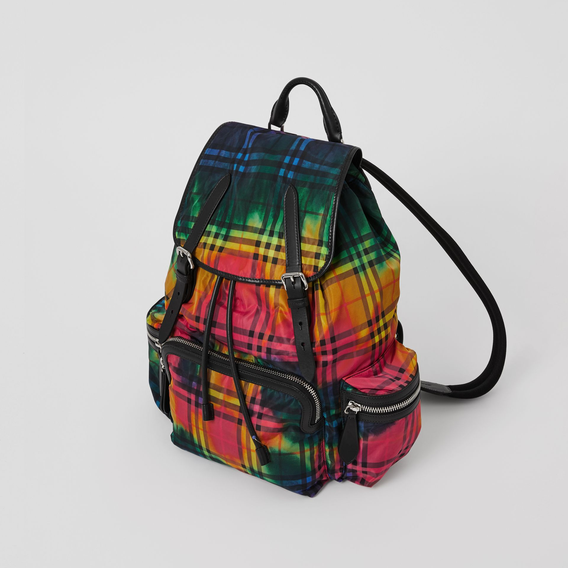 The Large Rucksack in Tie-dye Vintage Check in Multicolour | Burberry - gallery image 4