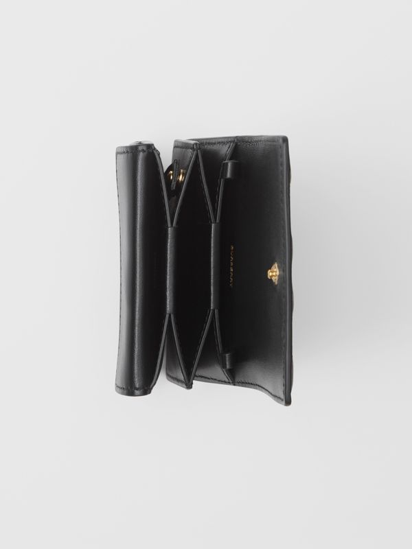 Quilted Lambskin Card Case with Detachable Strap in Black | Burberry United Kingdom - cell image 3