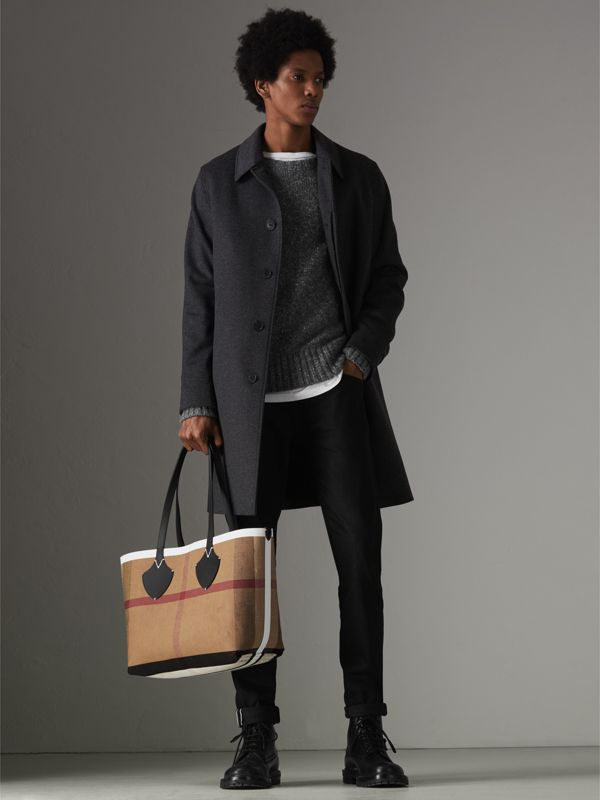 The Medium Giant Tote im wendbaren Design aus Canvas und Leder (Schwarz/weiss) | Burberry - cell image 3