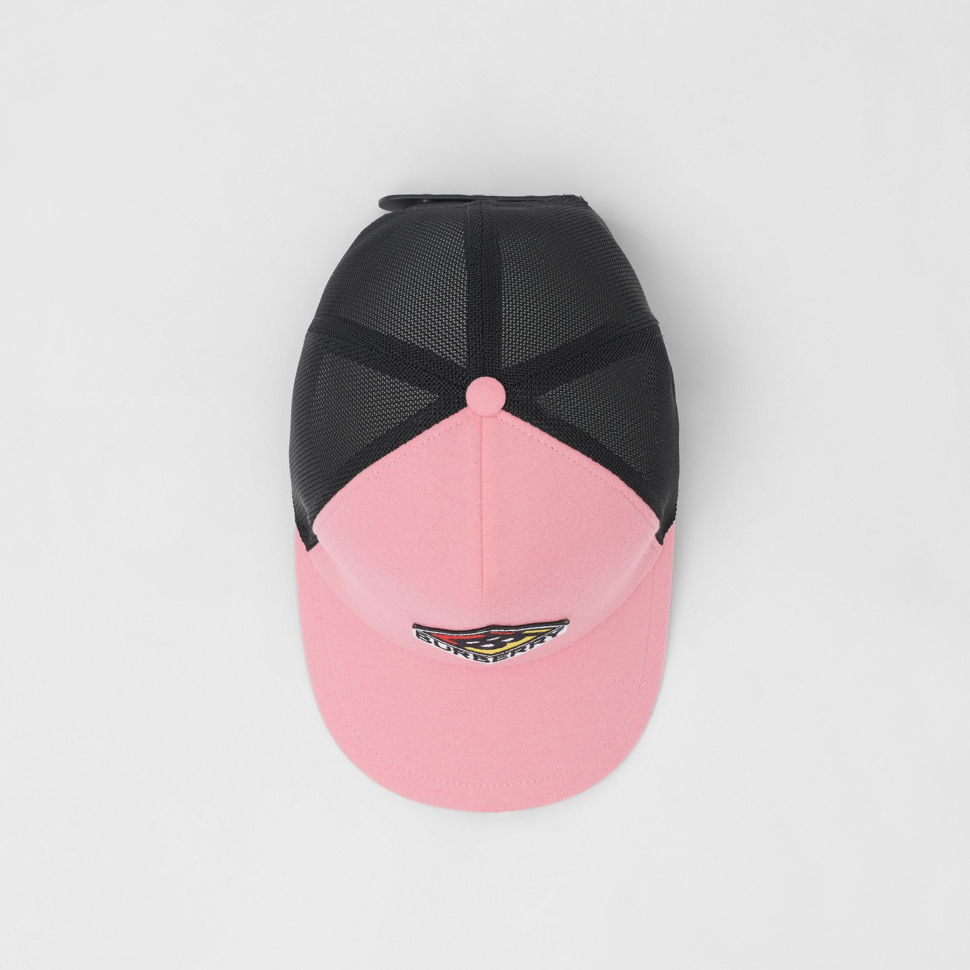 Logo Graphic Baseball Cap in Pink | Burberry Singapore - gallery image 0