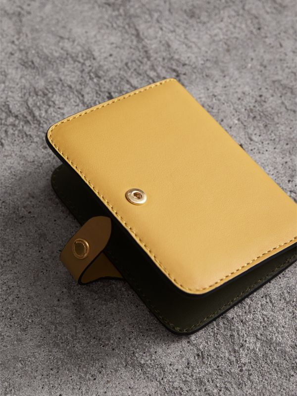 Equestrian Shield Leather Card Case in Larch Yellow | Burberry - cell image 2