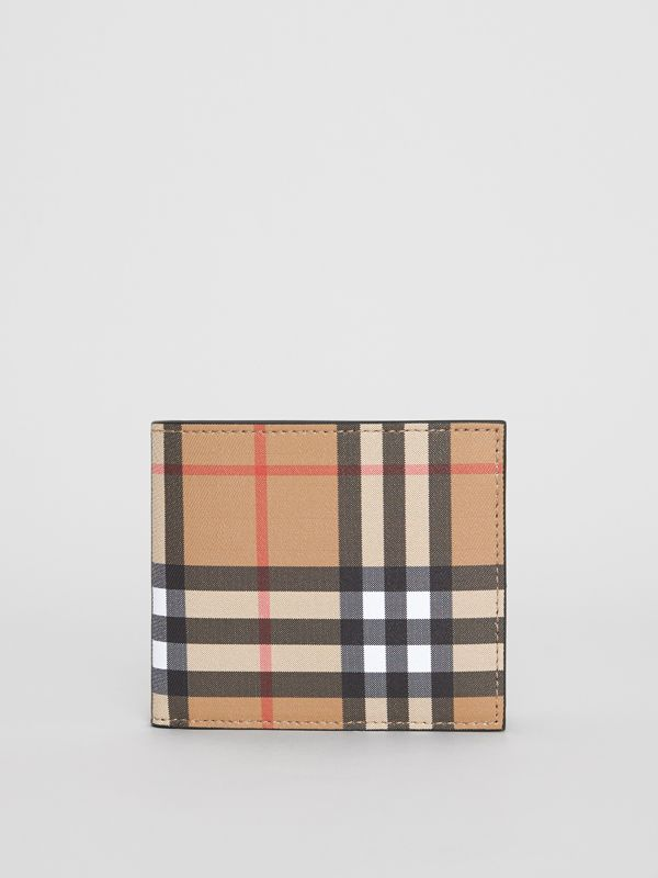 Vintage Check International Bifold Wallet in Black - Men | Burberry Australia - cell image 2