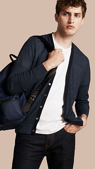 Lightweight Mouline-knit Silk Cotton Cardigan
