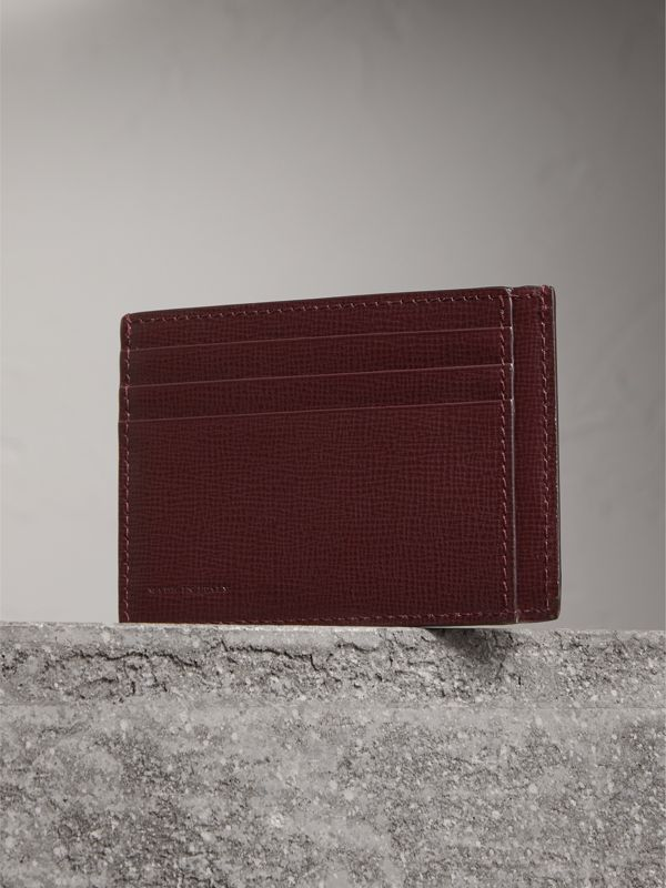 London Leather Card Case in Burgundy Red | Burberry Canada - cell image 2