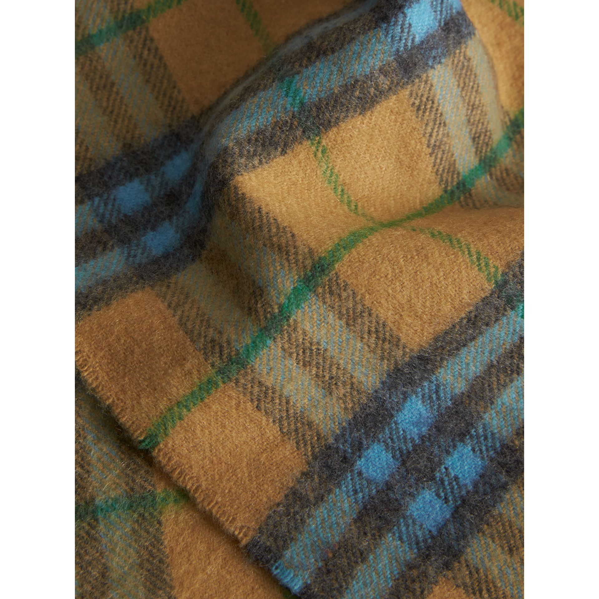 Check Cashmere Baby Blanket in Blue Topaz - Children | Burberry United Kingdom - gallery image 1