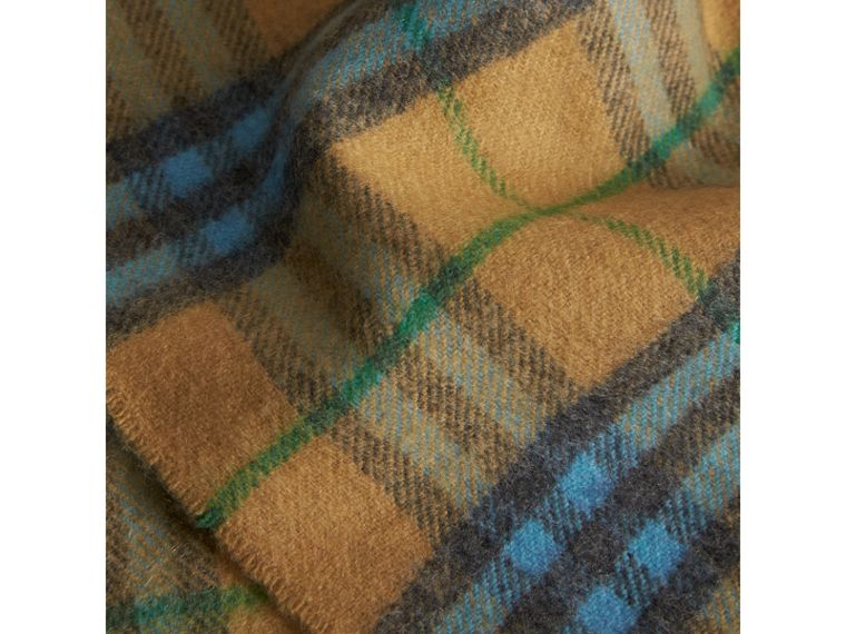 Check Cashmere Baby Blanket in Blue Topaz | Burberry - cell image 1