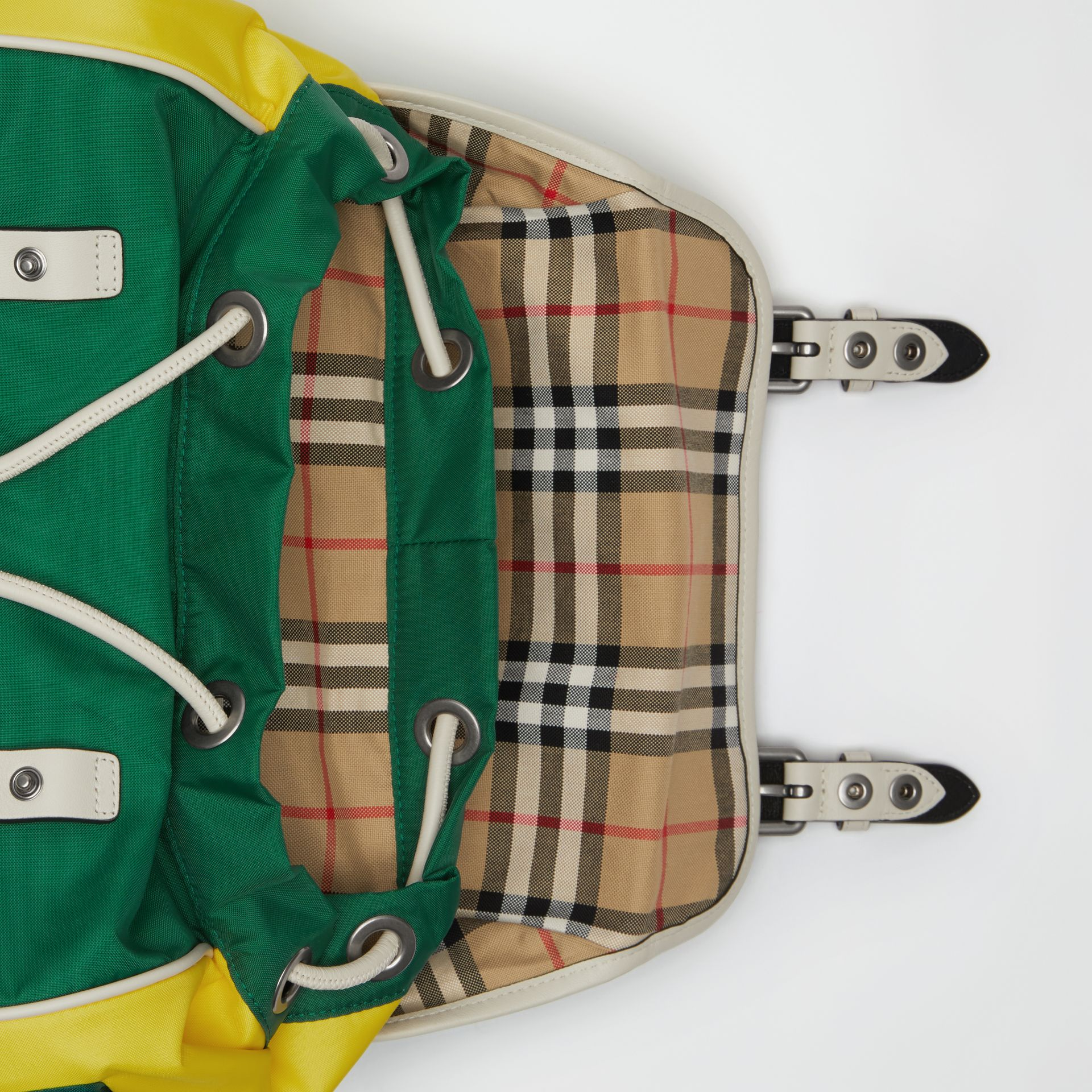 Tri-tone Nylon and Leather Backpack in Pine Green - Men | Burberry Canada - gallery image 3