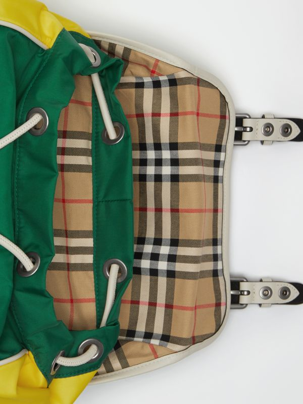 Tri-tone Nylon and Leather Backpack in Pine Green - Men | Burberry Canada - cell image 3