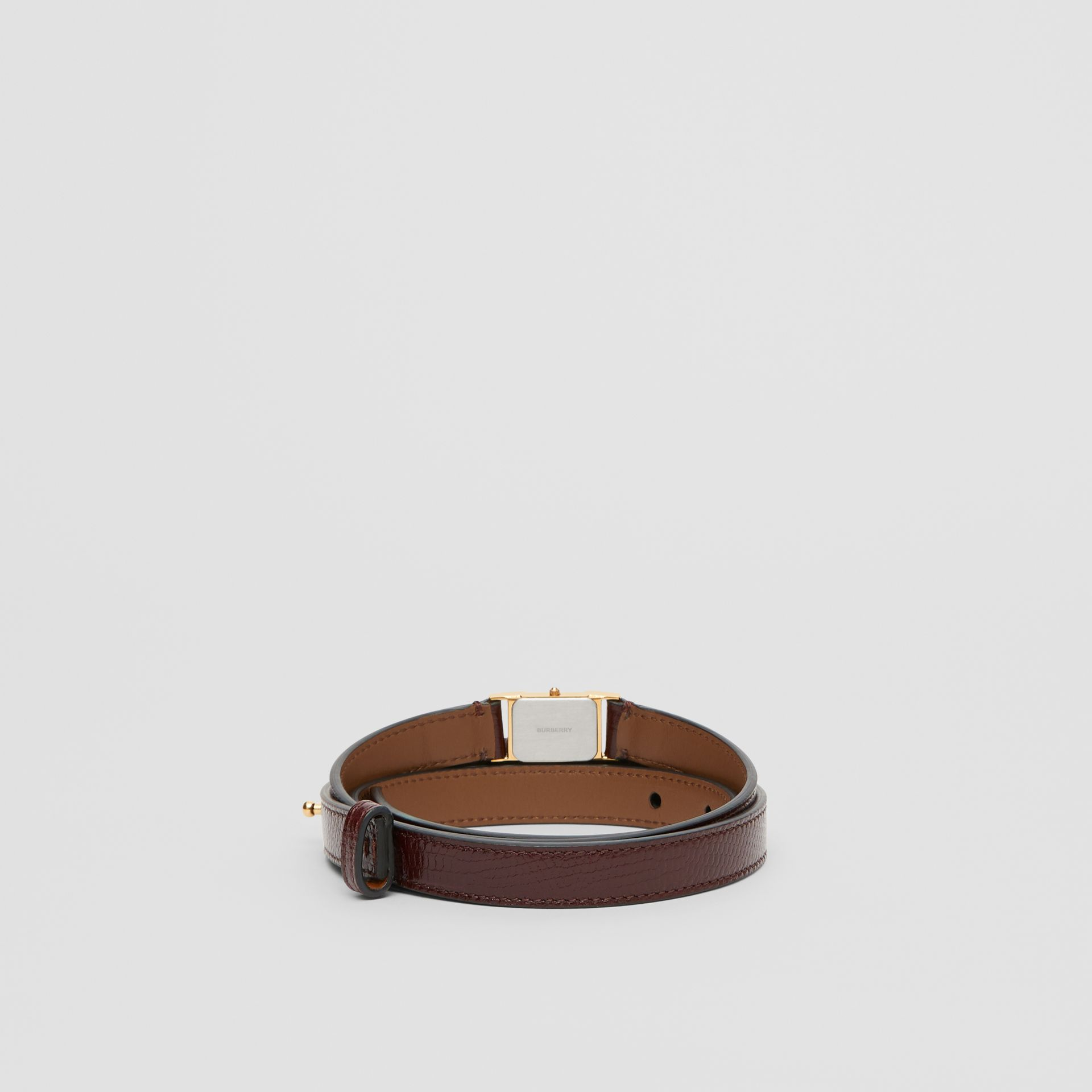 Faux Watch Detail Leather Belt in Tan - Women | Burberry United States - gallery image 4
